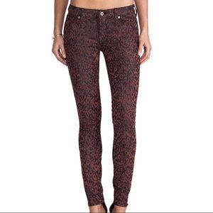 Dakota Collective Khloe Jacquard Leopard Jeans
